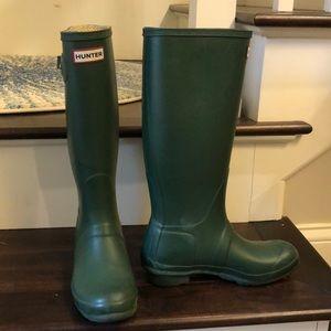 Hunter Rain Boots GREEN SZ 7